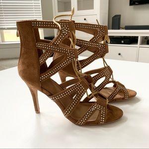 Forever Strap Heel Sandals Tan Size 8.5